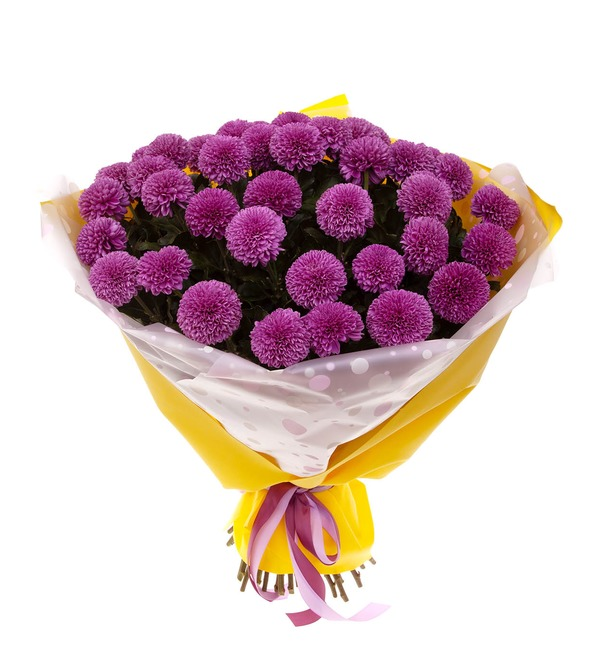 Bouquet-solo of chrysanthemums Gustav (7,15,21,35 or 51) – photo #5