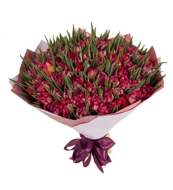 Букет-соло Тюльпаны Flash Point (15,25,35,51,75 или 101) – фото № 5