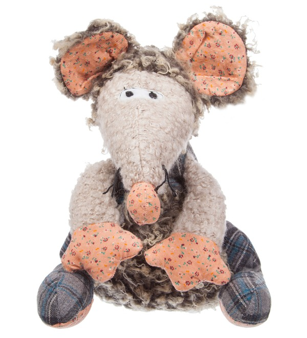 Soft toy Mouse Thomas (27 cm) – photo #1