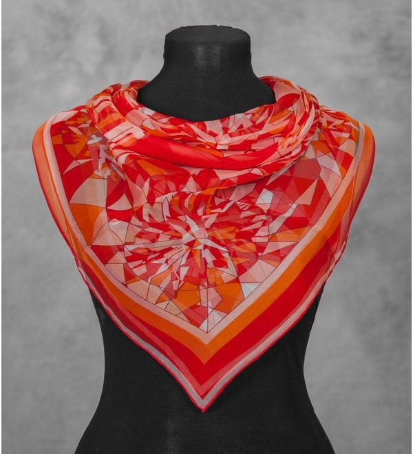 Шелковый платок Cartier (Франция, 80х80 см) – фото № 1