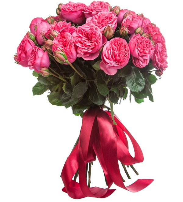 Bouquet of pion-shaped roses Pink Piano (15, 25 or 51) – photo #3