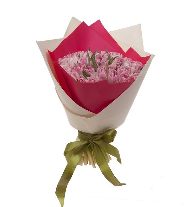 Букет-соло тюльпанов Foxtrot (15,25,35,51,75,101 или 151) – фото № 4