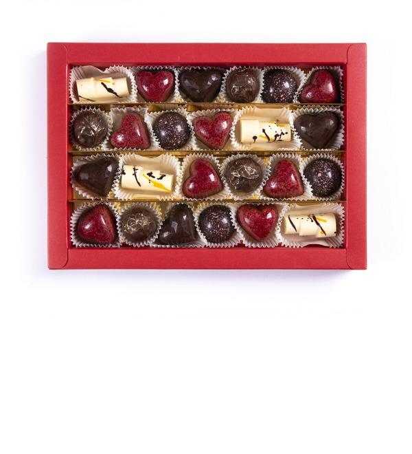 Конфеты ручной работы из бельгийского шоколада Ассорти 24 – фото № 1