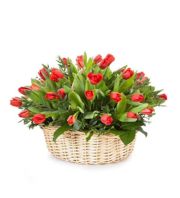 Композиция Красные тюльпаны – фото № 2
