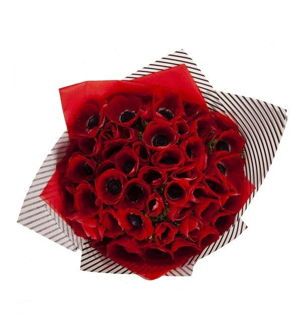 Букет-соло Красные анемоны (15,25,51 или 75) – фото № 3