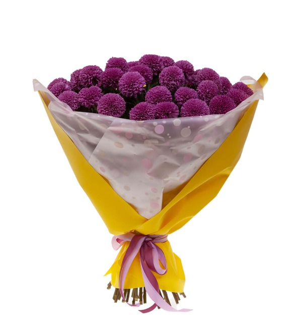 Bouquet-solo of chrysanthemums Gustav (7,15,21,35 or 51) – photo #4