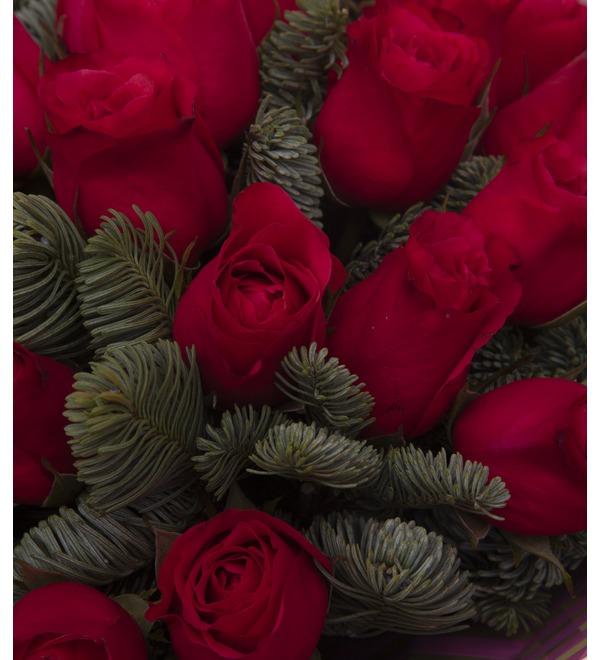 Букет-соло роз Вишневый аромат (15,25,35,51,75 или 101) – фото № 2