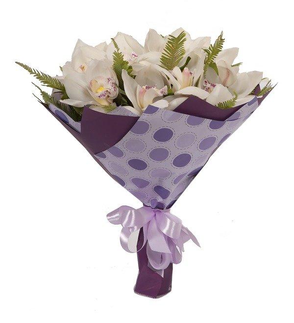 Букет-соло Белые орхидеи (15,25,35,51,75,101 или 151) – фото № 5