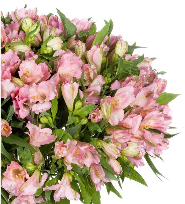 Букет-соло Розовые альстромерии (15,25,35,51,75 или 101) – фото № 4
