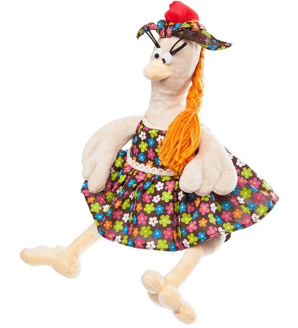 Мягкая игрушка Курочка в Сарафане (28 см) – фото № 4