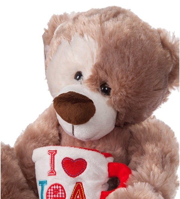 Soft toy Bear Zinovy with a mug (35 cm) – photo #2