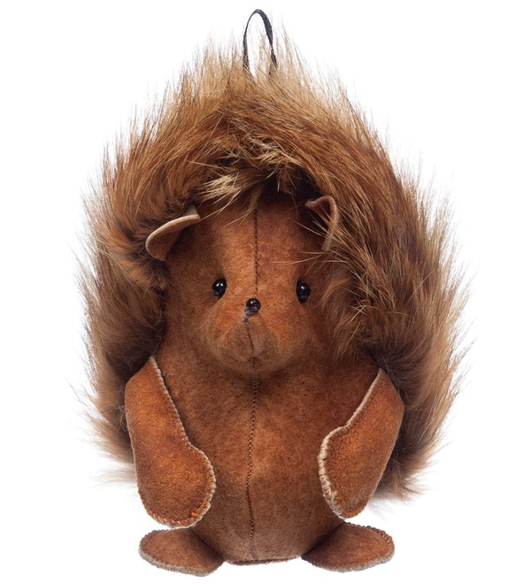 Keychain made of natural fur Hedgehog – photo #1