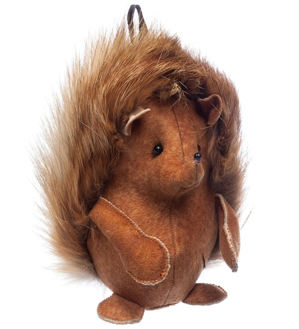 Keychain made of natural fur Hedgehog – photo #5