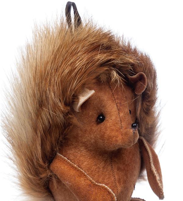 Keychain made of natural fur Hedgehog – photo #4