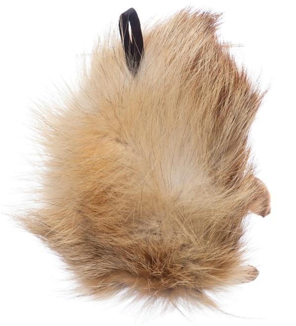 Keychain made of natural fur Hedgehog – photo #3