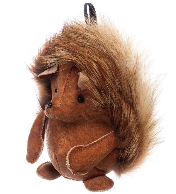 Keychain made of natural fur Hedgehog – photo #2
