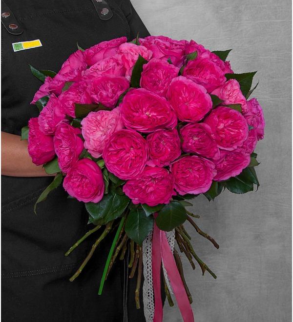 Букет из пионовидных роз Баронесса (15, 25 или 51) – фото № 1