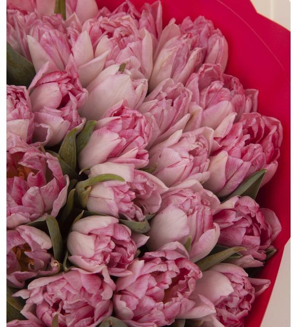 Букет-соло тюльпанов Foxtrot (15,25,35,51,75,101 или 151) – фото № 3