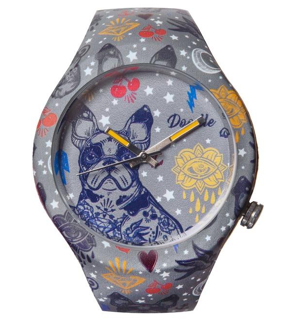 Часы Doodle Французский бульдог – фото № 1