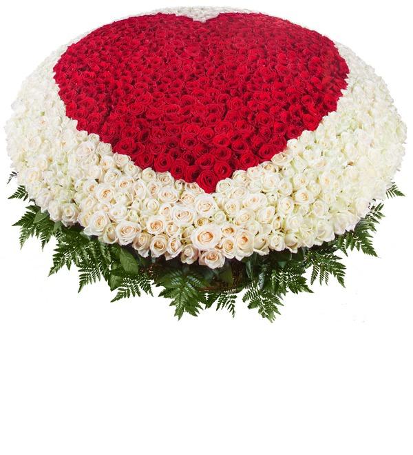Композиция Мое сердце - тебе (1001 роза) – фото № 1