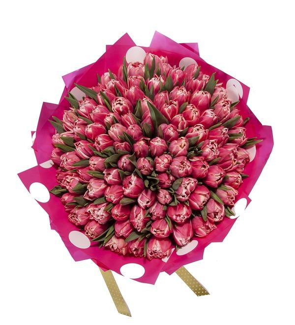 Букет-соло Тюльпаны Columbus (15,25,35,51,75 или 101) – фото № 4