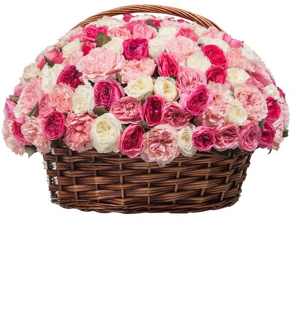Композиция из пионовидных роз Восторг (101, 201, 301) – фото № 2