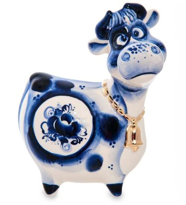 Статуэтка Корова с колокольчиком (Гжельский фарфор) – фото № 1