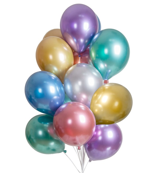 Bouquet of balloons Chrome (15 or 31 balloons) – photo #1
