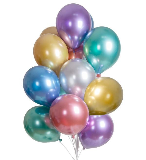 Букет шаров Хром (15 или 31 шар) – фото № 1
