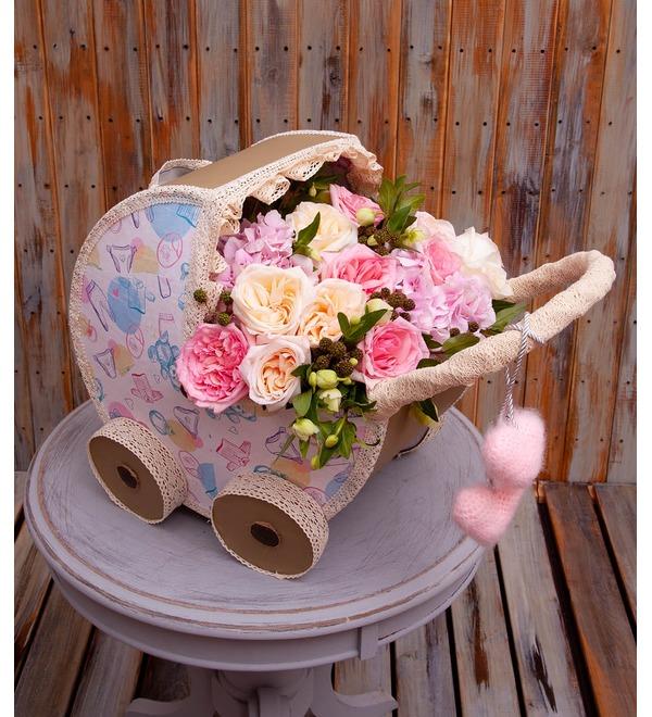 Цветочная коляска С Рождением Малышки! – фото № 1