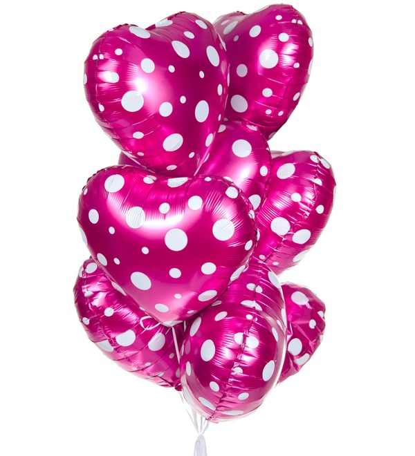 Букет шаров Сердечки (9 или 18 шаров) – фото № 1