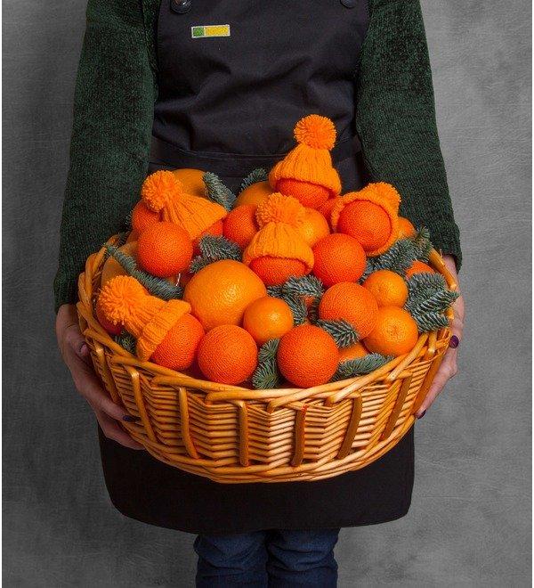 Подарочная корзина Оранжевое чудо – фото № 1