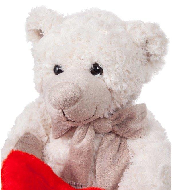 Soft toy Samuel Teddy Bear with Heart (28 cm) – photo #2
