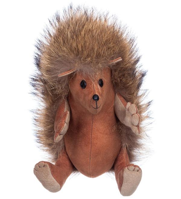 Toy made of natural fur Hedgehog Venya – photo #1