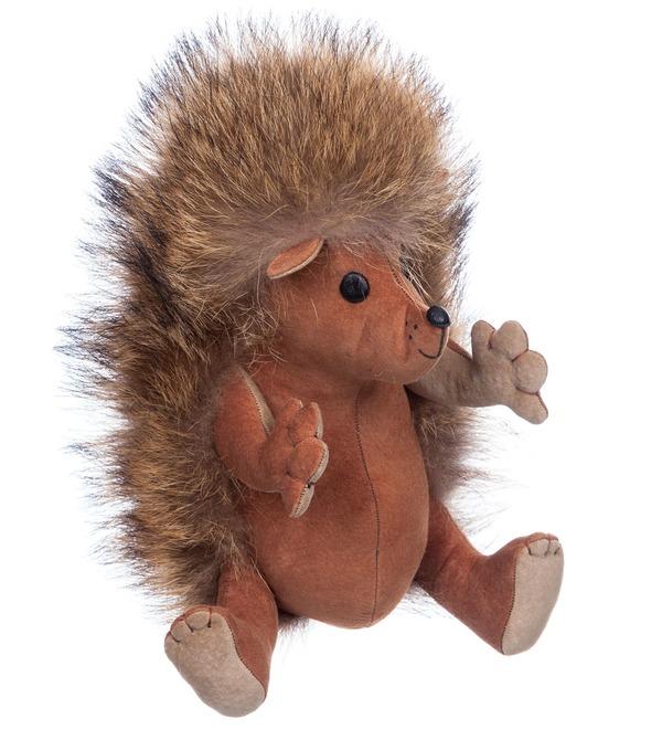 Toy made of natural fur Hedgehog Venya – photo #5
