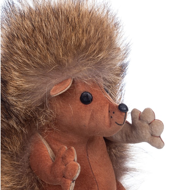 Toy made of natural fur Hedgehog Venya – photo #4