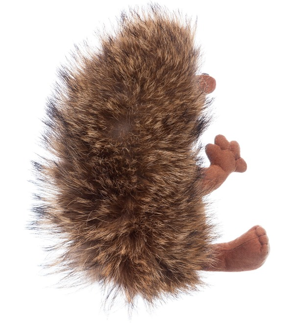 Toy made of natural fur Hedgehog Venya – photo #3