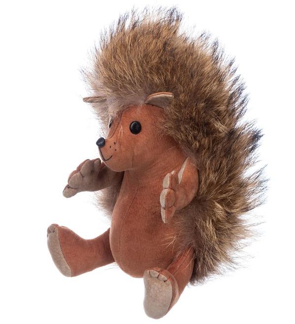 Toy made of natural fur Hedgehog Venya – photo #2