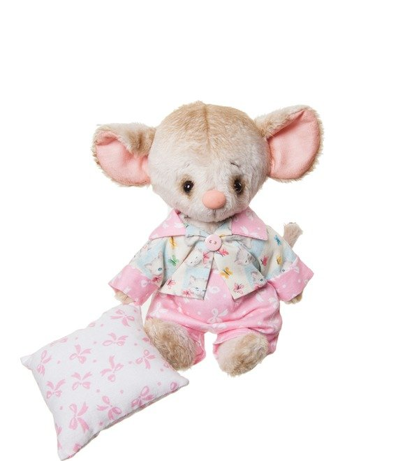 Handmade toy Mouse and Pillow (20 cm) – photo #3