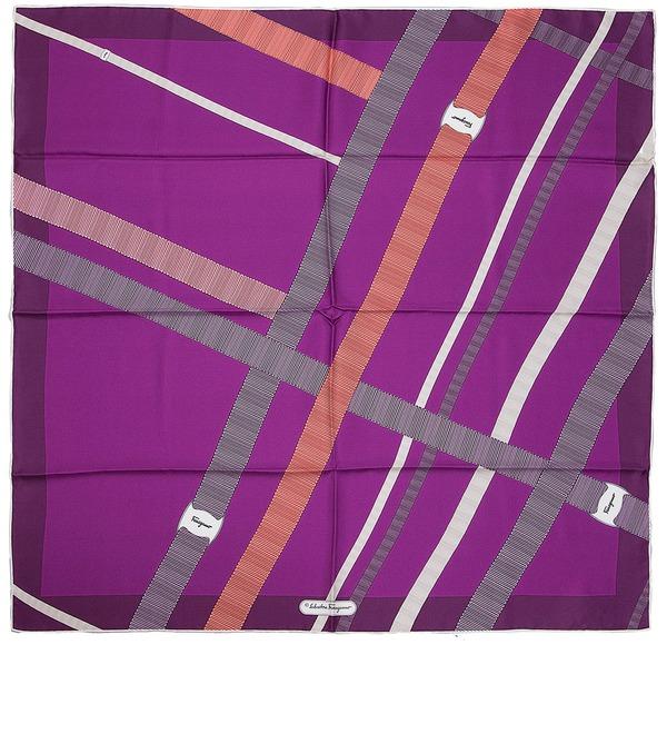 Silk scarf Salvatore Ferragamo (Italy, 70х70 cm) – photo #1