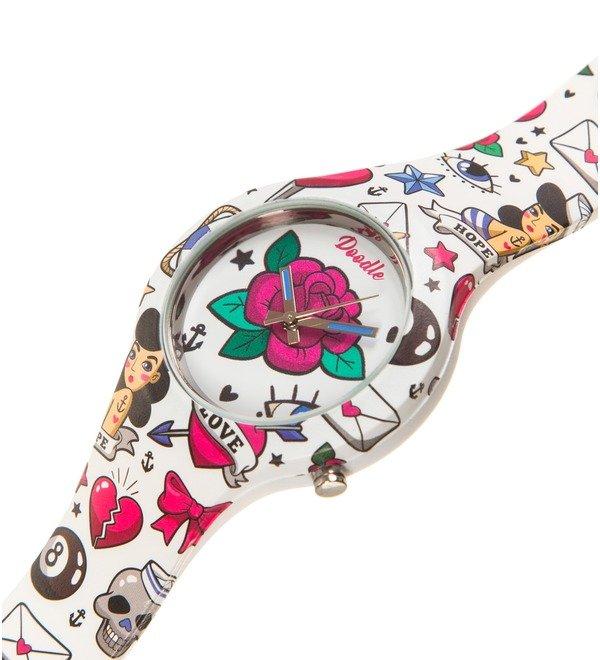 Часы Doodle Роза – фото № 2