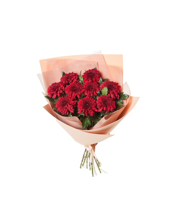 Bouquet of Chrysanthemums Kiss (5, 9 or 15) – photo #4