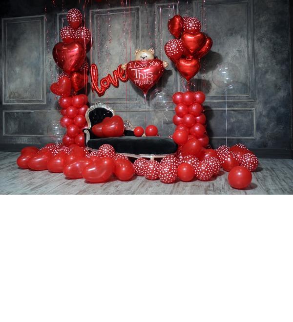 Оформление шарами в стиле Любовь! – фото № 3