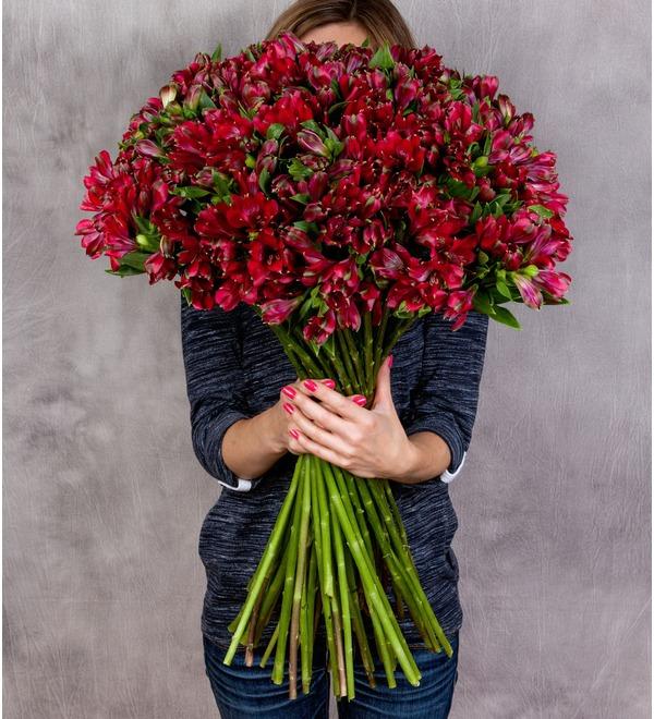 Букет-соло Рубин (15,25,35,51,75 или 101) – фото № 1