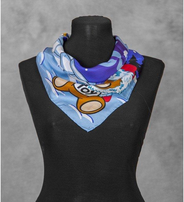 Шелковый платок MOSCHINO Зима (Италия, 50х50 см) – фото № 2