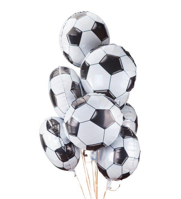 Букет шаров Футбольный мяч (9 или 18 шаров) – фото № 1