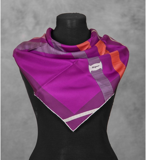 Silk scarf Salvatore Ferragamo (Italy, 70х70 cm) – photo #3