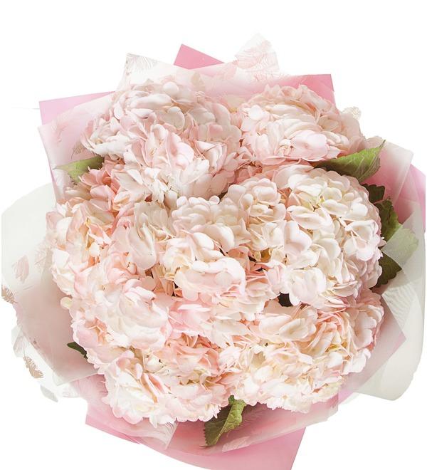 Букет розовых гортензий (5, 7 или 9) – фото № 2