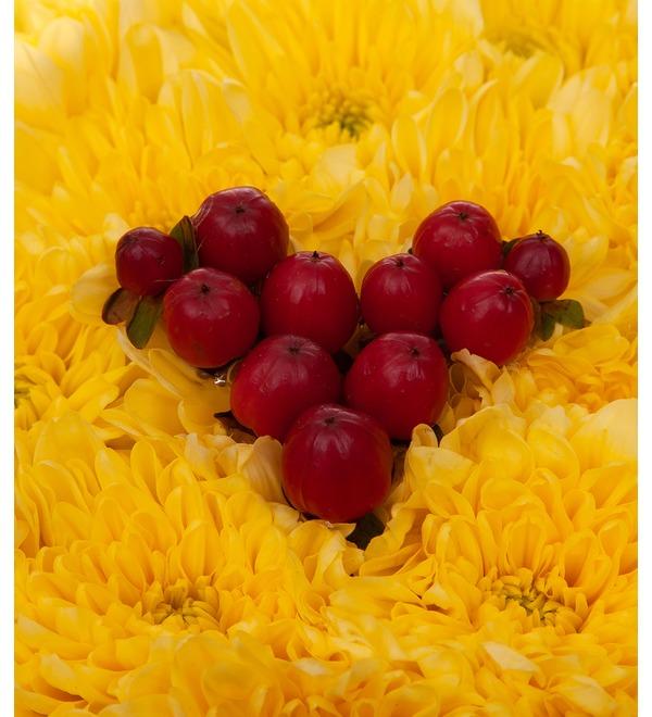 Цветочный смайлик Влюблённость – фото № 3