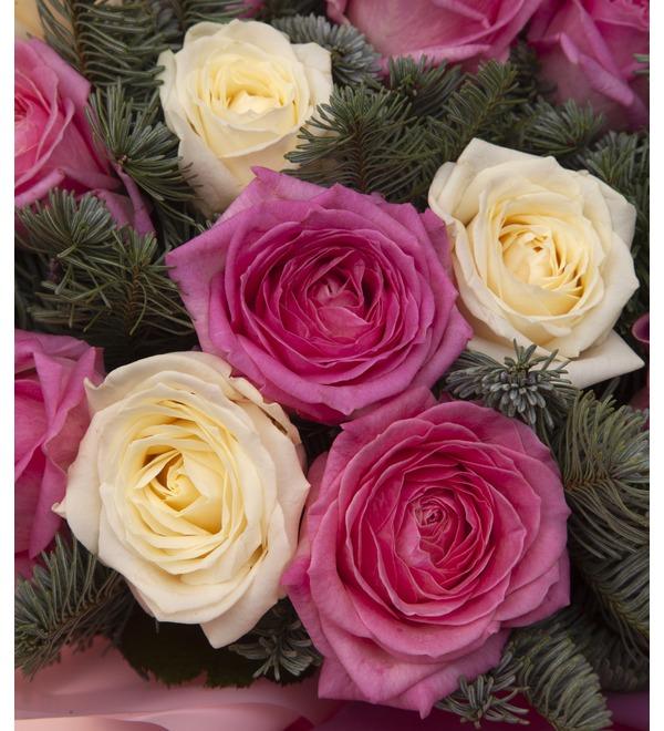 Букет-дуэт роз Стихия чувств (15,25,35,51,75 или 101) – фото № 2